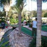 Mini-golf bridge