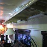 Original Overhead luggage racks in room
