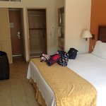 our room 3rd floor facing pool with king size bed!