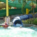 Good water slides.