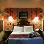 Queen Bed Train Room