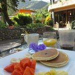 Breakfast served on grounds of hotel
