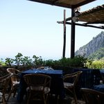 Panorama della terrazza dal ristorante