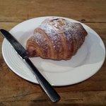 Tasty almond croissant