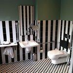 Stripy bathroom