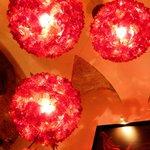 Chandeliers in the restaurant