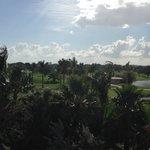 Vista para os campos de golfe