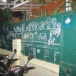 mural outside restaurant