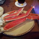 First plate of crab legs at buffet