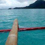 outrigger on the water