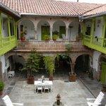 courtyard at Ninos Hotel