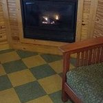Propane gas powered fireplace