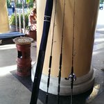 Fishing rod, took at hotel lobby