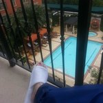 Me...my slippers...and my balcony!