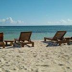 Playa muy tranquila para relajarse