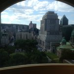 View from the room's window, facing Mont Royal
