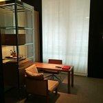 Desk and mini bar