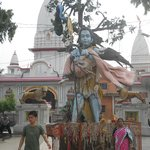 The present temple was built by Queen Dhankaur in 1810 and rebuilt in 1962. It is a place of pil