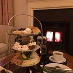 Gorgeous afternoon tea in the lounge