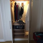 Closet with safe and scale