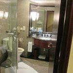 Bathroom (bath behind the door)