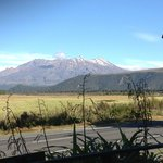 Mt Ruapehu from the restaurant and bar