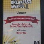 Donnelly's Award for Best Breakfast in N.Ireland.