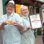 Eileen & Becky show off their award winning Ulster Fry!