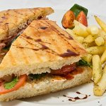 A large range of tasty, grilled panini served with skinny fries and salad. Nice vegetarian optio