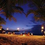 Dinner at the beach at Soneva Kiri Resort in Thailand
