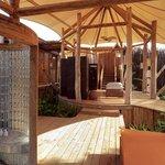 Outdoor bathroom at Soneva Kiri Resort in Thailand