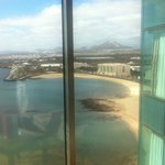 View of beach at side of the Hotel  from 15th Floor Suite