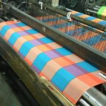 The beautiful fabric produced in the local factory