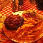 Hamburguesa con chili