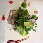 Brandade de morue  et légumes croquants