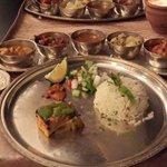 Veg Thali Food at veda restaurant