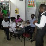 Members of the Rotaract club of Kasese always have their 'after fellowship dinner at Modern ever
