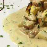 tortino di patate con funghi porcini