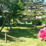 Jardín, zona infantil, juegos