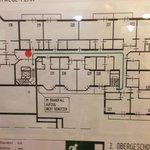 Haupthaus 2.OG Lageplan der Zimmer