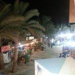 Dahab promenade from the restaurant balcony