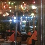 Inside the restaurant - we loved the decor, it was so Arabian nights
