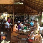 fantastic sunday lunch with superb food, music and atmosphere