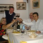 Enjoying wine after wine tour with our tour guide, Osteria Montellori