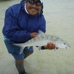 Captain Jose with Phil's bonefish