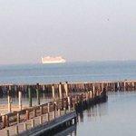 Cruyise ship sailing by