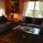 Living area of honeymoon suite