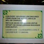 Mean warning at buffet breakfast