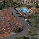 Vue aérienne de l'espace de l'hotel et de notre restaurant gastronomique