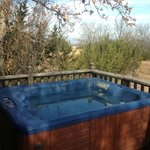 Hot tub was clean and private